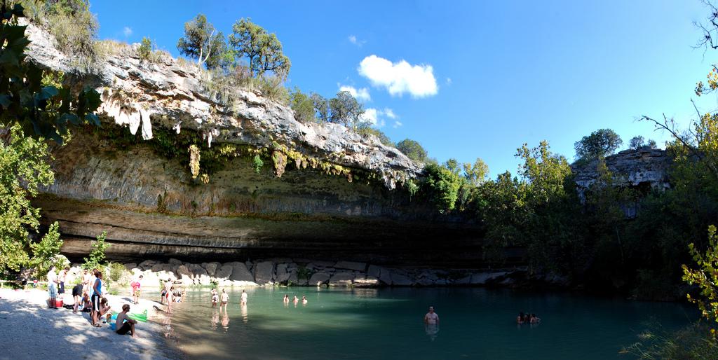 hamilton pool nature preserve natural swimming hole spring canyon