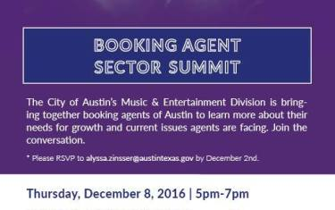 Booking Agent Sector Summit