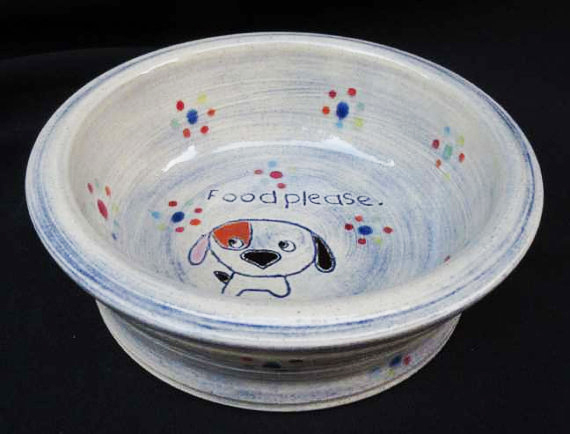 "Photo: ""Food Please"" Dog Bowl ($35)"