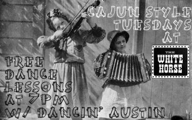 Cheaa! Free Cajun Style Dance Lessons every Tuesday!