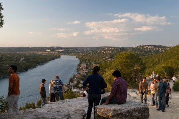 Mt Bonnell, sunset