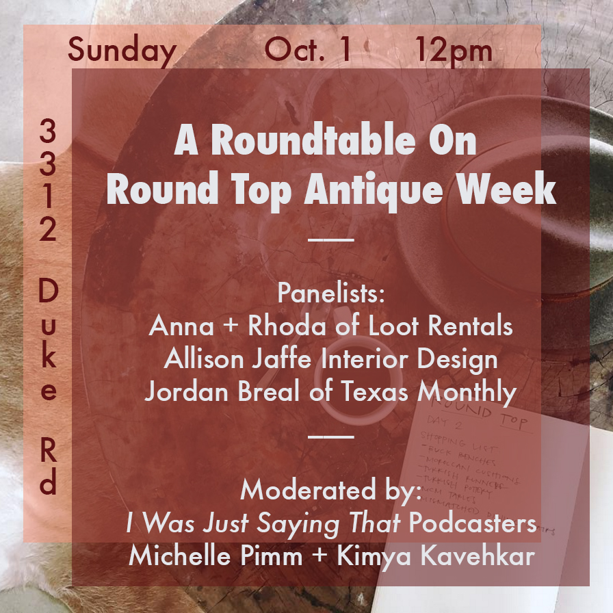 A Roundtable On Round Top Antique Week