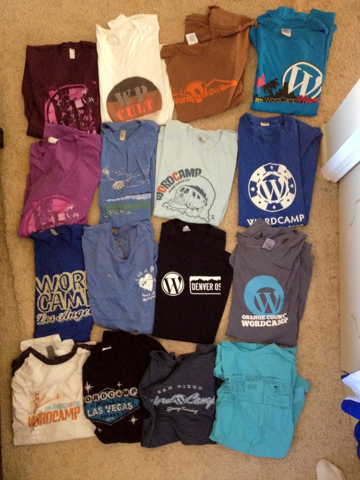 WordCamp shirts