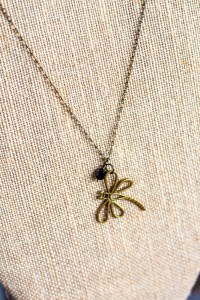 Simple Dragonfly necklace Jewelry making material