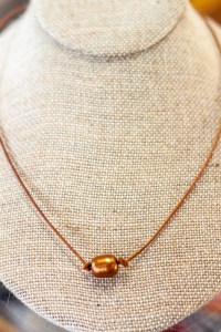 Bronze Pearl Necklace beads Austin