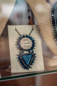 Coin and Druzy Necklace
