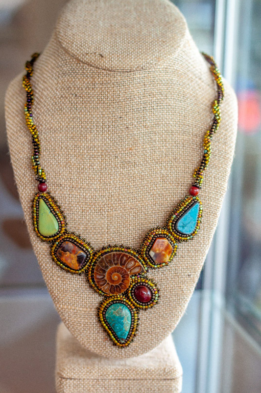 Multi Colored Stone Necklace design Austin