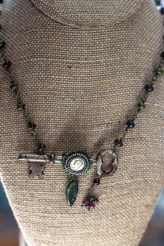 Coin and Key Necklace jewelry classes