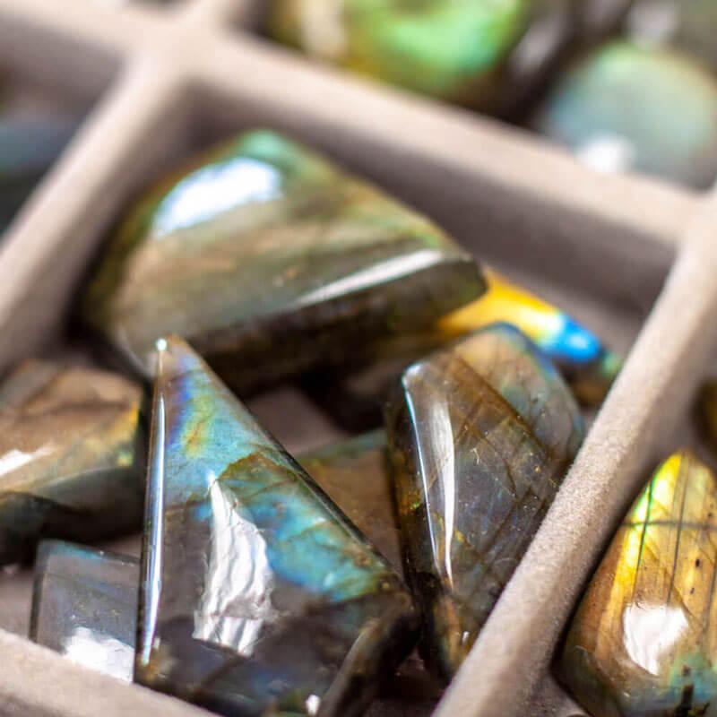 Labradorite Cabochons Semi-precious stones