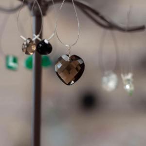 Smokey Quartz Droplets