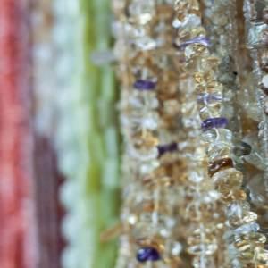 Tumbled Quartz Chip Beads Close-up