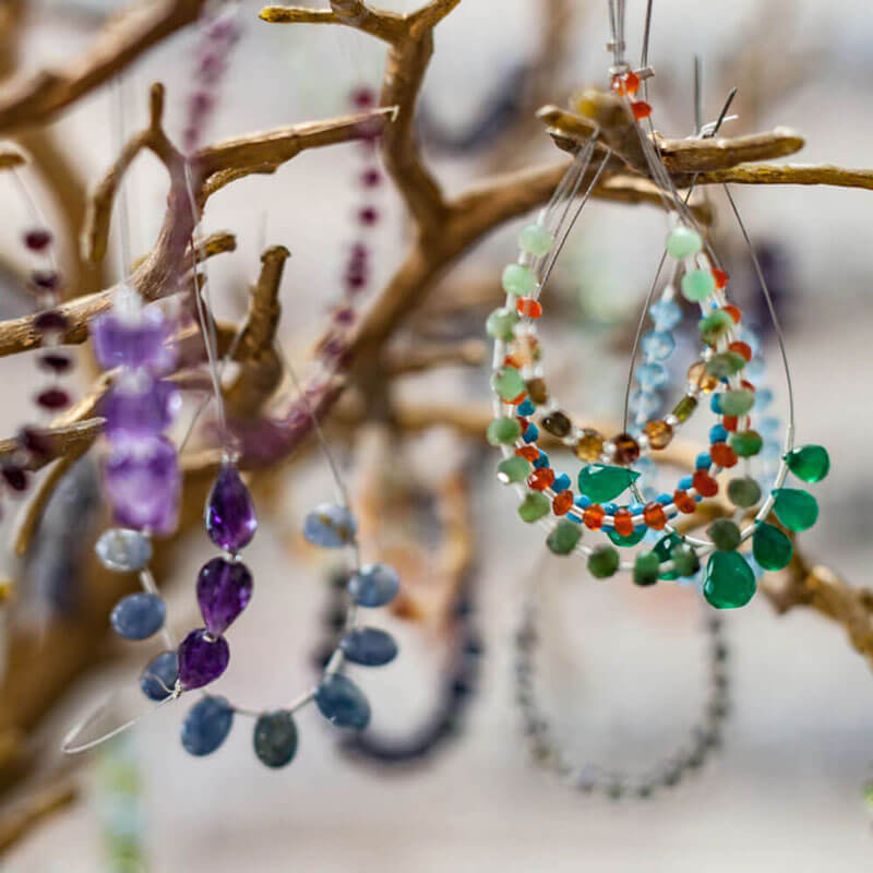 Beaded necklace design Austin