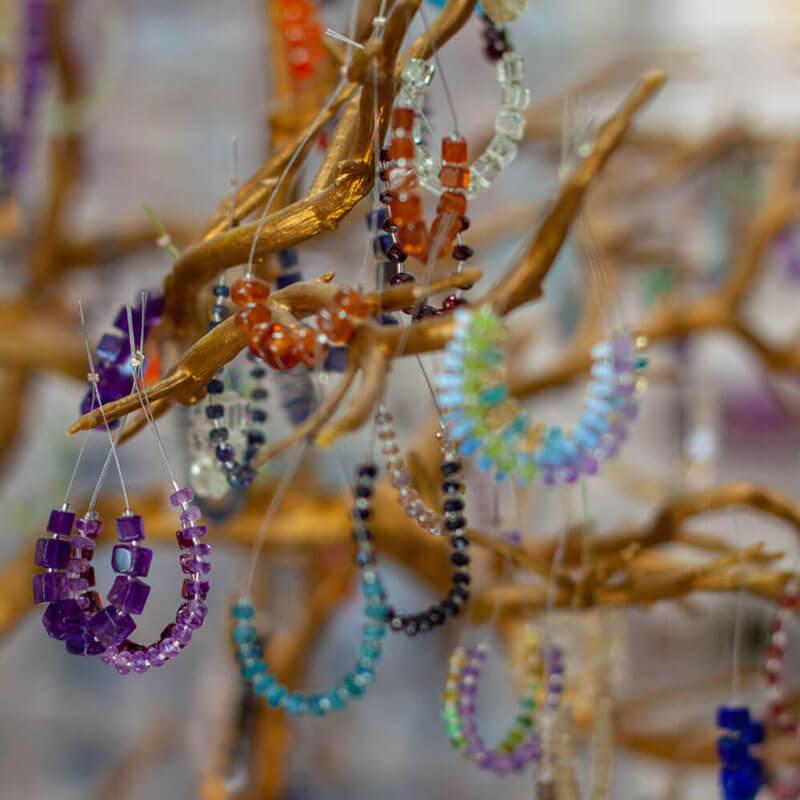 Beaded gem bracelet design