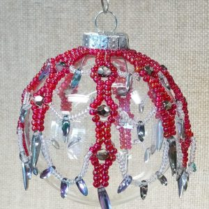Flame Red Ornament Decoration