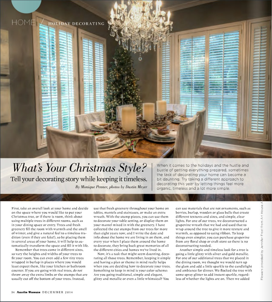 PUBLISHED: Holiday Edition | Austin Woman Magazine