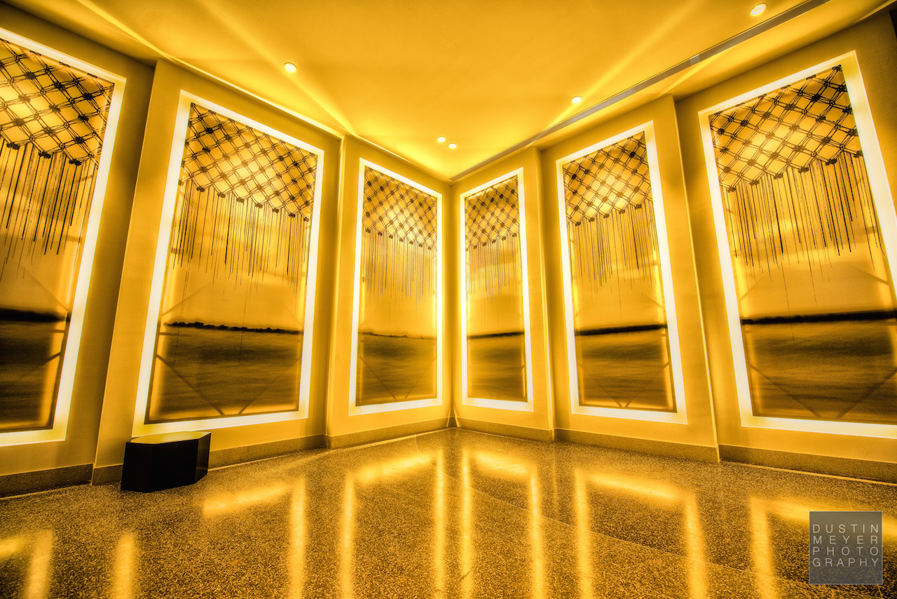 Golden Wall of the JW Marriott Hotel