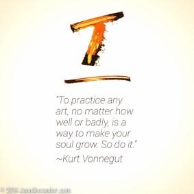 Kurt Vonnegut Quote by Jann Alexander ©2014