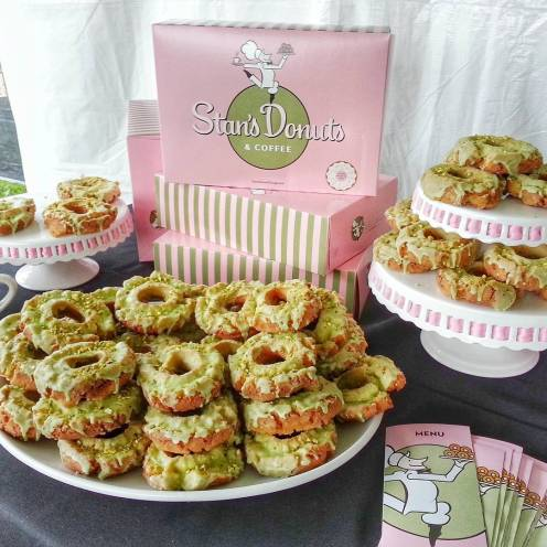 Local favorite Stan's Donuts were featured with their pistachio cake donuts!