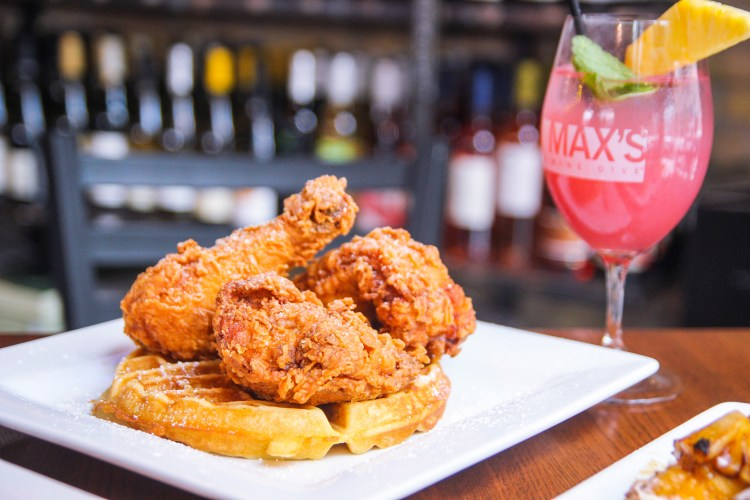 max's wine dive - chicken and waffles