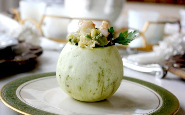 Shrimp Stuffed Chayote