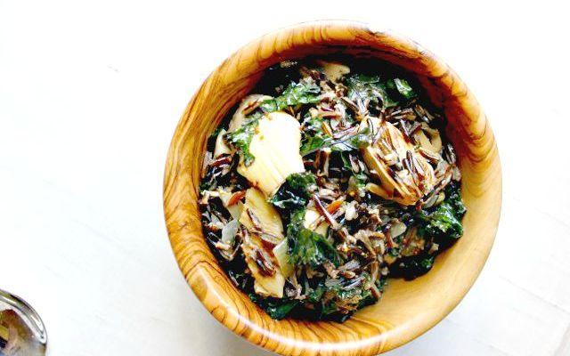 Wild Rice, Kale & Artichoke Salad