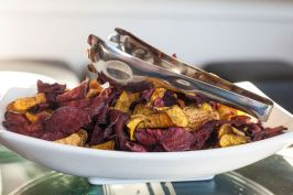 House made beet chips
