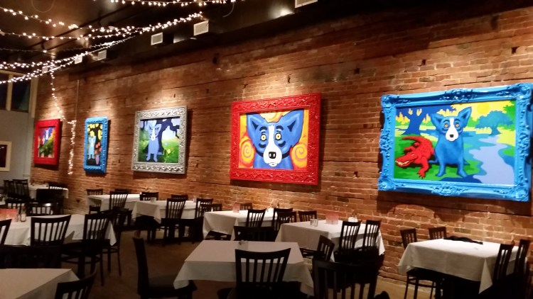 Private dining area at Blue Dog Cafe