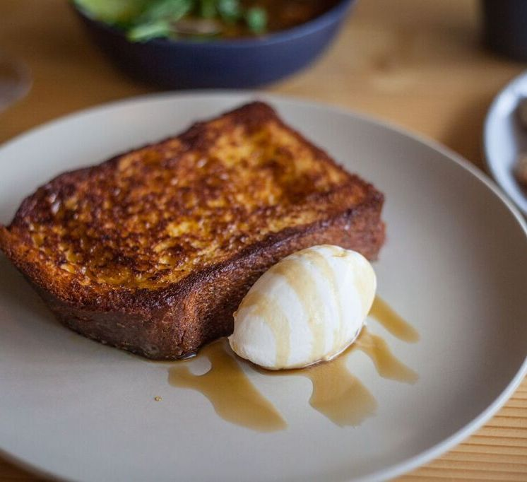 Emmer and Rye Creme Brulee French Toast