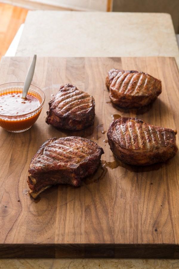 Recipe Texas ThickCut Smoked Pork Chops Austin Food