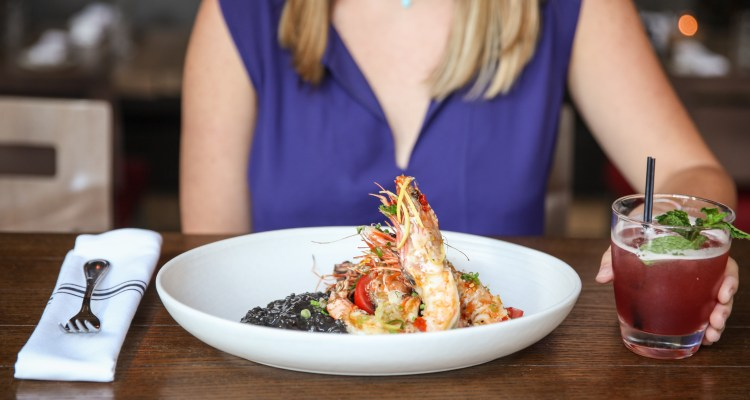 Prawns and cocktail