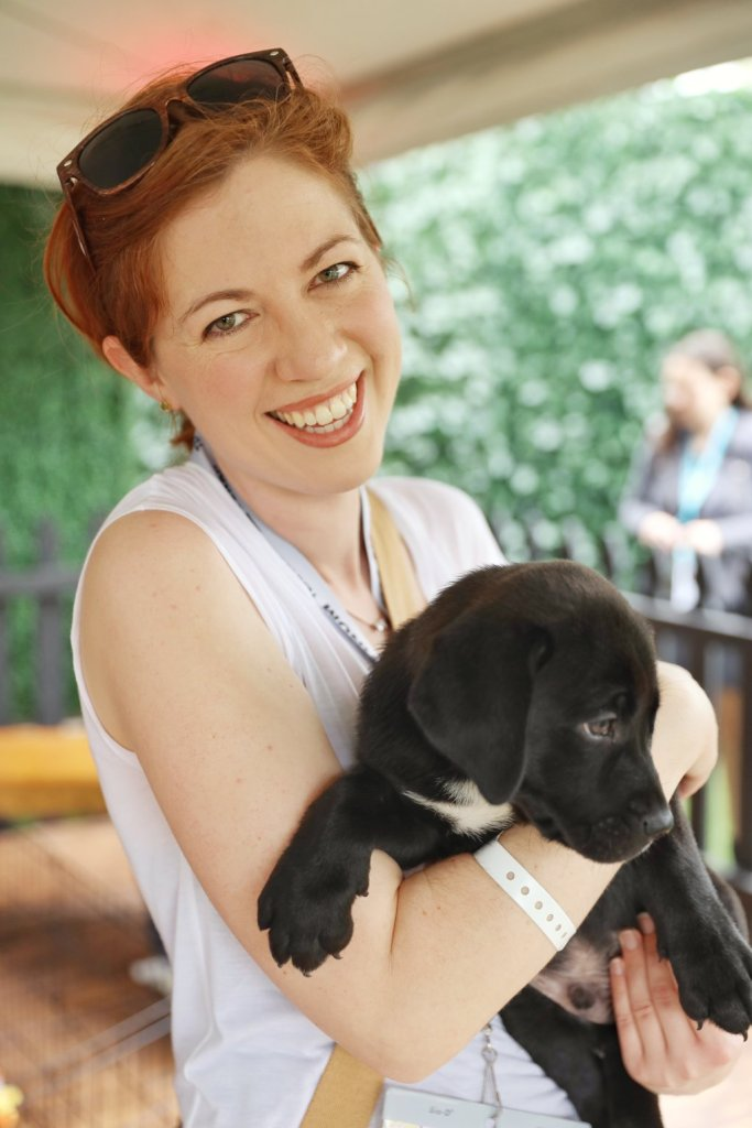 Carrie and Dog SXSW