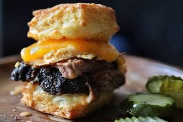 Smoked Brisket & Biscuit Sandwich