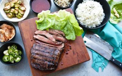 korean beef ssam lettuce wraps