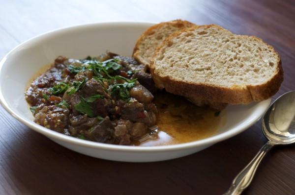 Slow Cooker Eggplant Stew