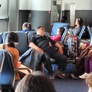 I think #psy is on my #flight.,