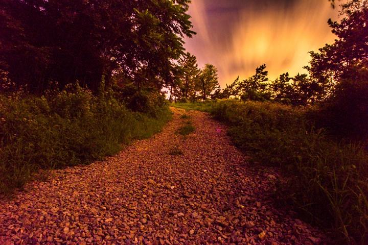 Hiking Path at Night