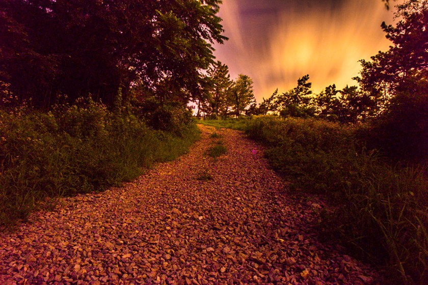Hiking Path at Night
