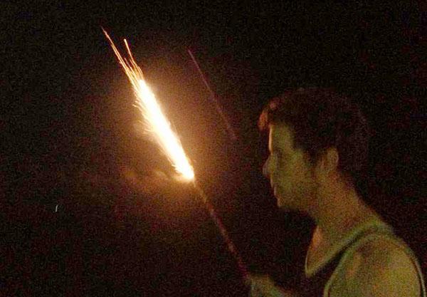 beach firework