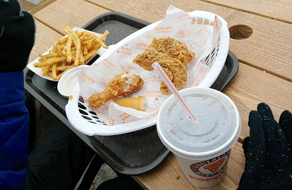 Mmm chicken and fries