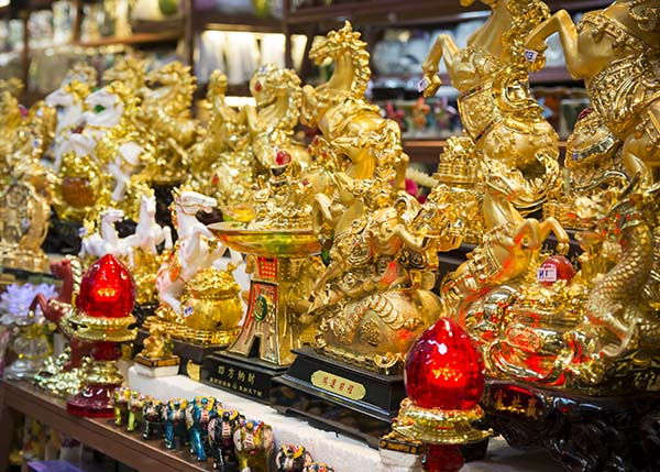 Golden Statues at the market