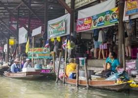 Vendors on boats