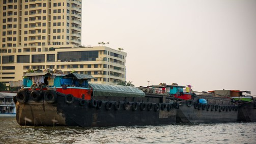 A barge on the river Chao Phraya