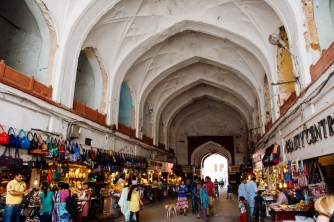 The bazaar inside the walls of Red Fort