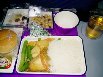 Seafood Meal from Guangzhou to Delhi on China Southern