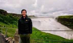 Me at Gullfoss Waterfall