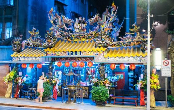 A temple near the night market