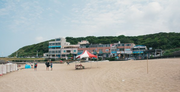 Some shops along the beach