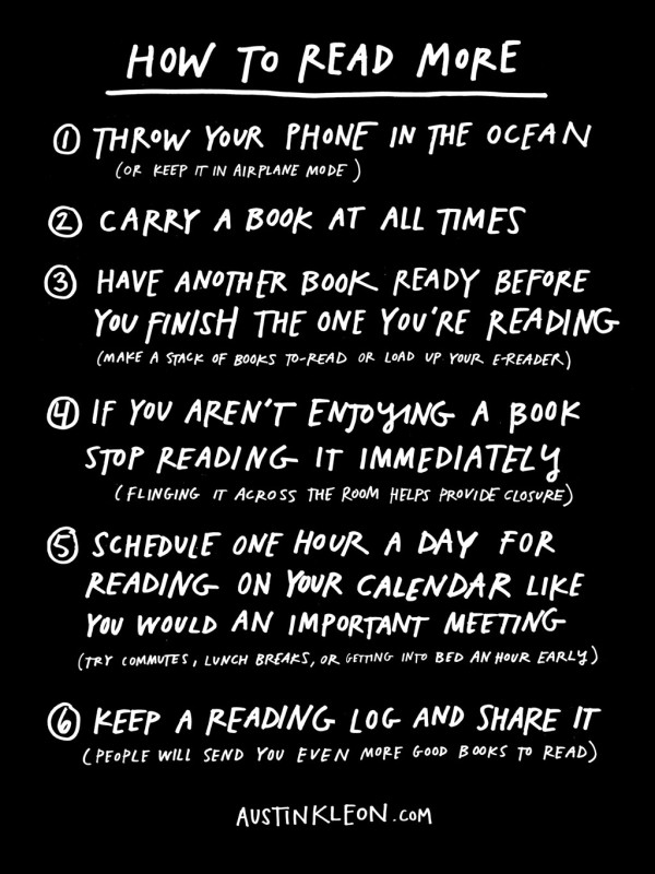 6 tips to help you read more
