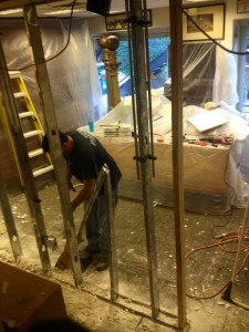 Preparation of wall removal 4