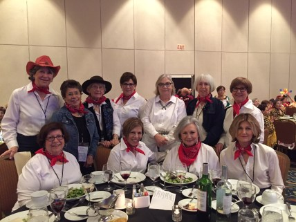 Pan American Night - we all dressed in Texas attire.